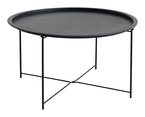 Table basse RANDERUP Ø75 noir