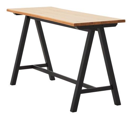 Tavolo bar SANDBY 71x183 rovere/nero