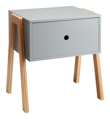 Nachttisch KETTINGE 1 Schublade grau