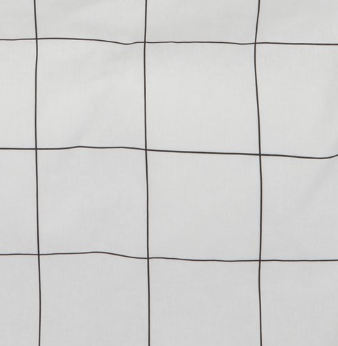 Sengesæt CRISTA 140x200 hvid/sort