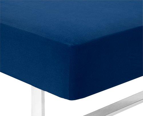 Jerseylaken 180x200x40cm blå