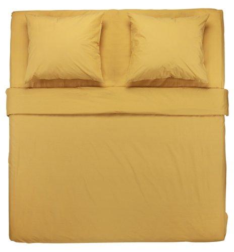 Conjunto lençóis ELLEN 240x280 amarelo