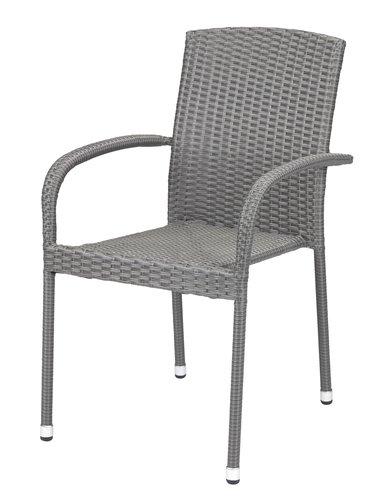 Stacking chair HALDBJERG grey