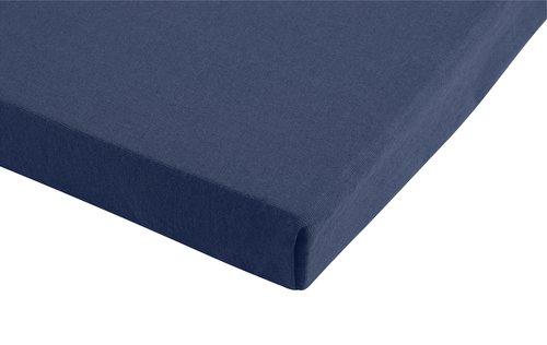 Lenzuolo in jersey 100x200x28cm blu