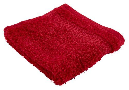 Toalha rosto KRONBORG DE LUXE vermelho