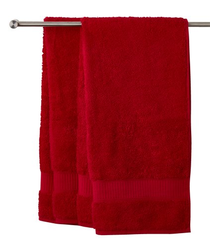 Toalla lavabo KRONBORG DE LUXE rojo