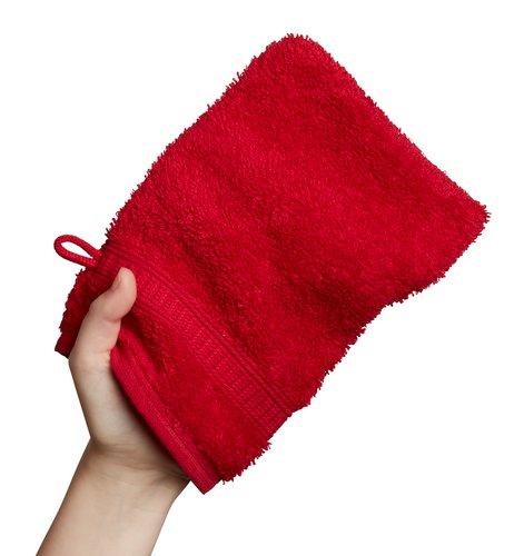 Manopla baño KRONBORG DE LUXE rojo