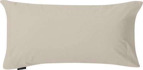 Funda almohada percal 2 uds 45x110 beis