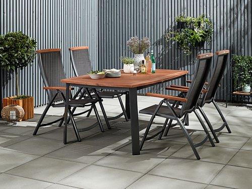 KINGSTON L180/241 legno+4 MADERNE grigio