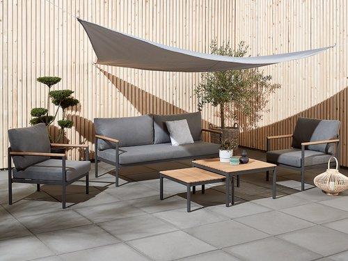 Loungesæt ODDESUND 5-pers. grå