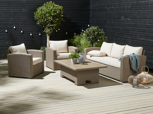 Set lounge VEMB 5 pers. naturale