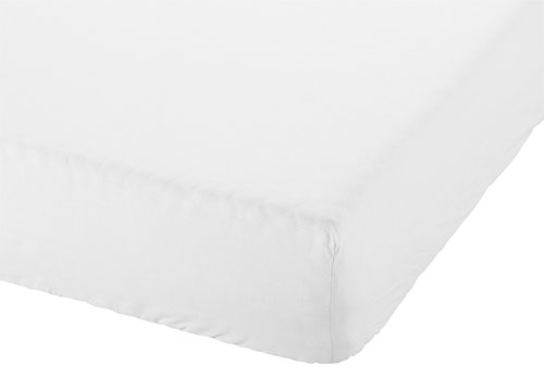 Drap-housse 90x200x28cm blanc