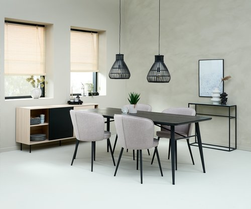 Table console HARSTAD 28x84 gris clair