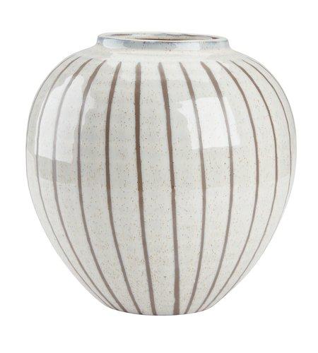 Vaso SOFUS Ø21xH22 cm bianco/marrone