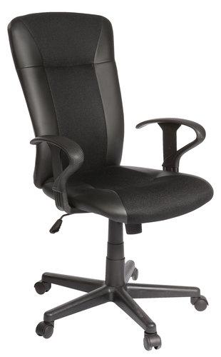 Крісло офісне SUNDS шт.шкіра чорний