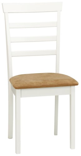 Krzesło do jadalni BJERT białe/brązowe
