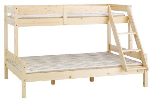 Emeletes ágy VESTERVIG 90/140x200 natúr