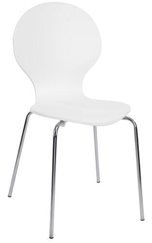 Jedál. stolička TOMMERUP biela/chróm