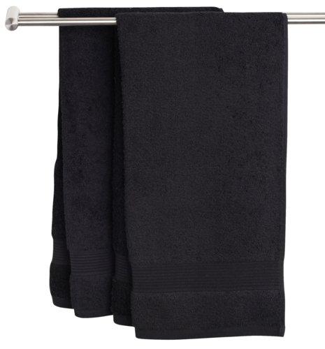 Guest towel KARLSTAD black KRONBORG