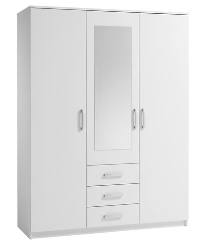 Skriňa VINDERUP 3 dvere 3 zásuvky biela
