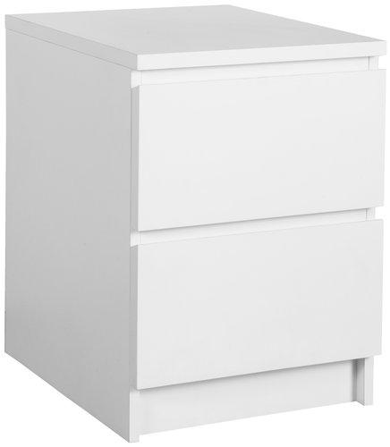 Sängbord LIMFJORDEN 2 lådor vit