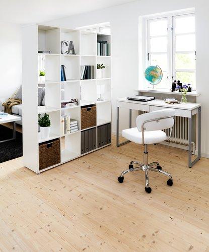 Íróasztal STEGE magasfényű fehér