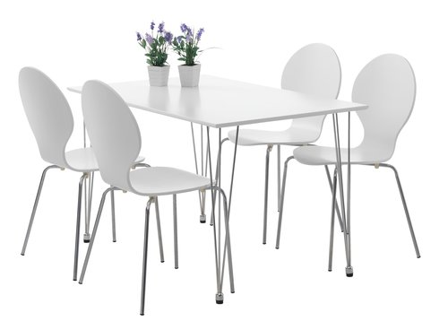Blag. stolica TOMMERUP krom/bijela
