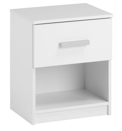 Bedside table KABDRUP 1 drw white