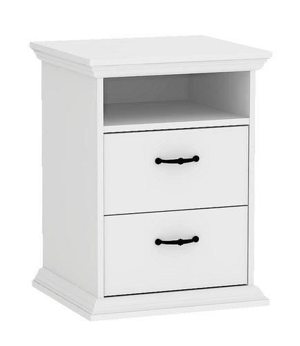 Sängbord VIBORG 2 lådor vit