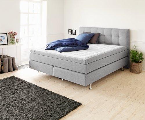 Sänggavel 160x125 HOIE grå-23