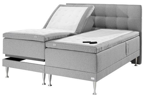 Sänggavel 180 HOIE söm ljusgrå