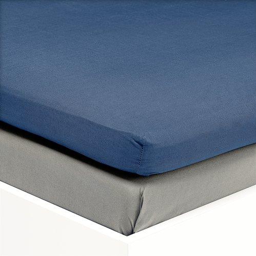 Kuvertlagen satin 140x200x6-10cm blå