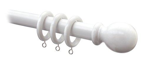Curtain pole wood 150 cm 28mm white