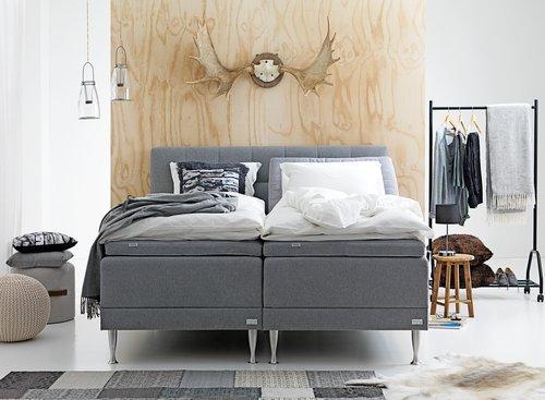 Ställbar säng HOIE 200 180x200 grå