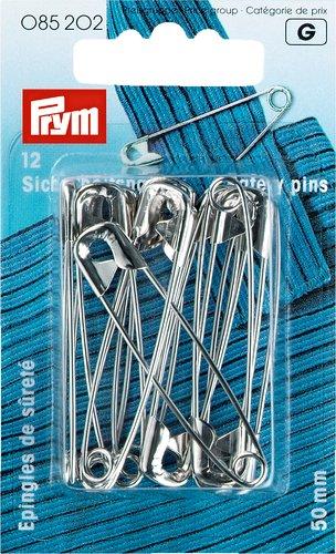 Sikkerhedsnåle 50mm sølvfarvet