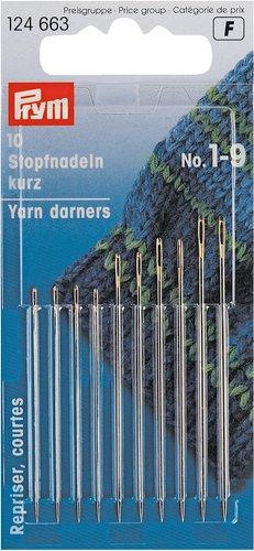 Parsinneulat lyhyt No. 1-9 hopea