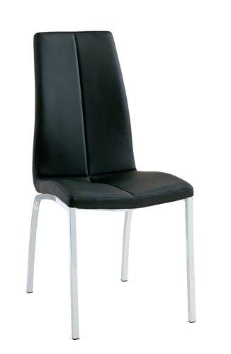 Jídelní židle HAVNDAL černá/chrom