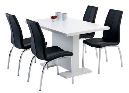 Ruokapöydän tuoli HAVNDAL musta/kromi