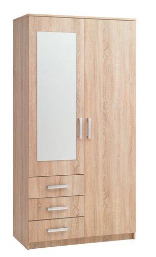 Garde-robe VELLERUP 101x200 combi chêne