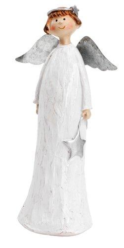 Anđeo MUMIN V24cm poliston bijela
