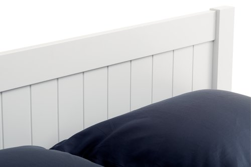 Bed frame NORDBY DBL white
