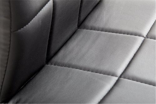 Krzesło HAMMEL skóra ekol. czarny