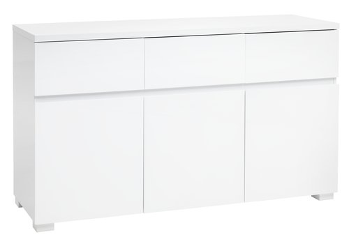 Sideboard OMME 3 door white high gloss