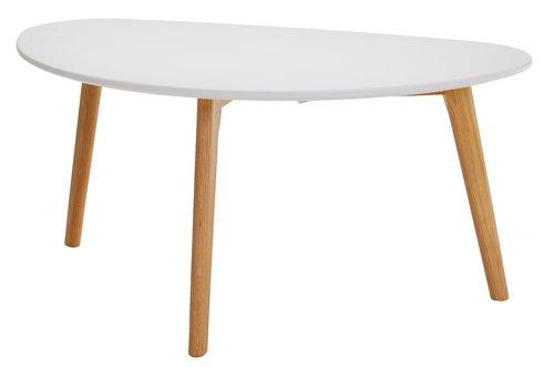 Coffee table LEJRE 48x85 cm white/oak