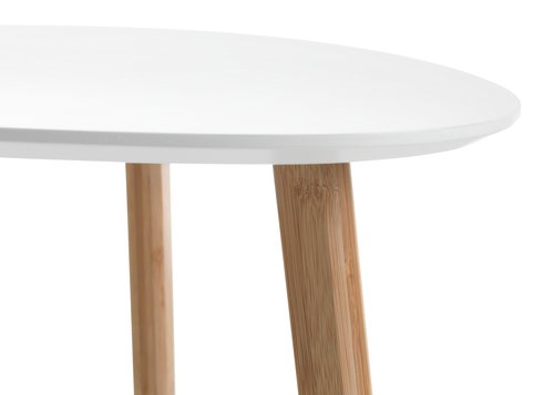 End table TAPS 55x55 cm white/bamboo