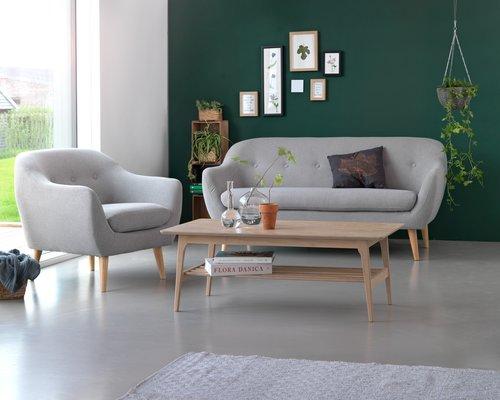 Sofa EGEDAL 2,5-seter lys grå