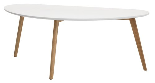 Coffee table LEJRE 60x120 cm white/oak