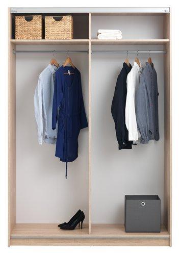 Kleiderschrank SATTRUP 151x219 weiß/eich