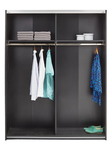 Wardrobe ONSTED 151x201 cm black