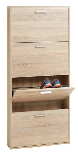Shoe cabinet BAGENKOP 4 comp. oak